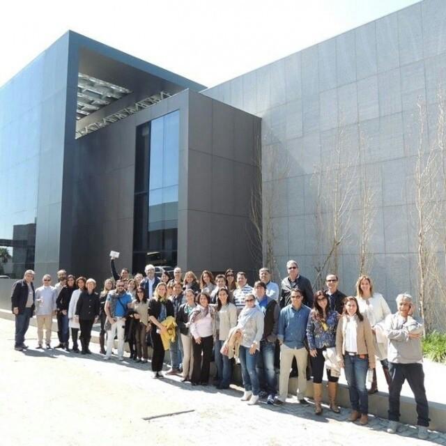 Arquitetos parceiros de Maceió, Nova Friburgo e São José dos Campos durante visita técnica na Fábrica da S.C.A. #GiroSCA