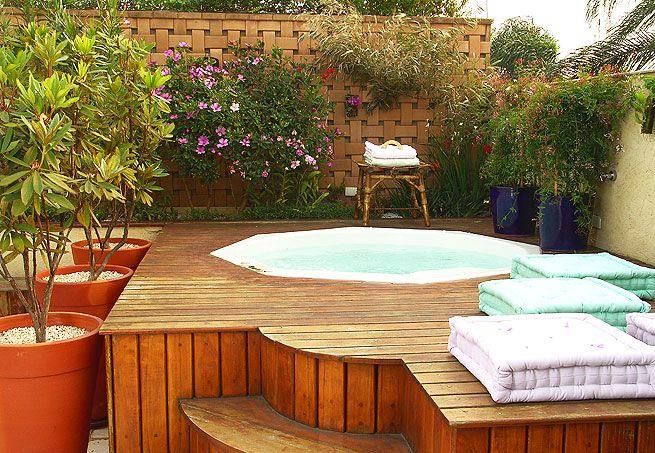 projeto de ofuro no jardim:os moradores de apartamentos também podem desfrutar das delícias de