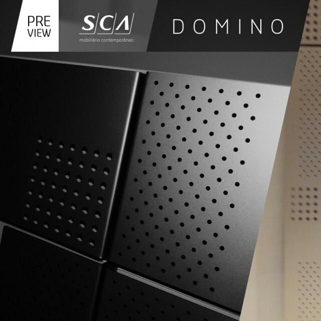 Contrastes cromáticos, a essência das formas e a dinâmica das composições dão personalidade à Coleção Domino. #previewArredamenti