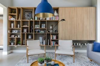 Sala de estar ganha em beleza e sofisticação neste móvel executado pela grife S.C.A.. Créditos: Ronaldo Rizzutti